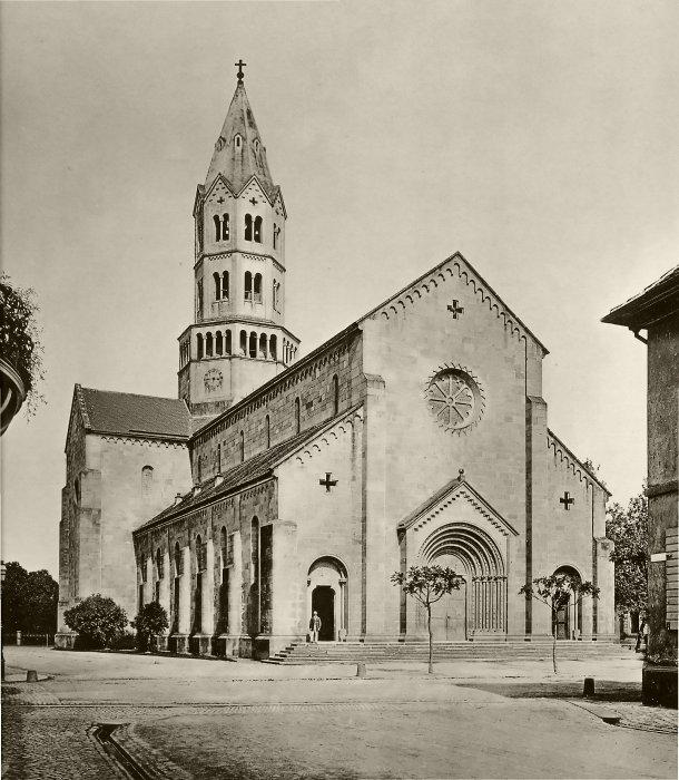 Freiburger Ludwigskirche um 1890.